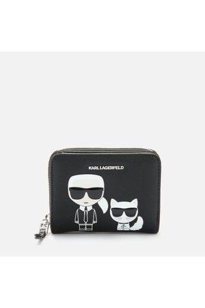Karl Lagerfeld Women's K/Ikonik Small Folded Zip Wallet