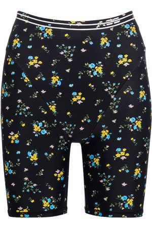Adam Selman Sport French Cut floral biker shorts