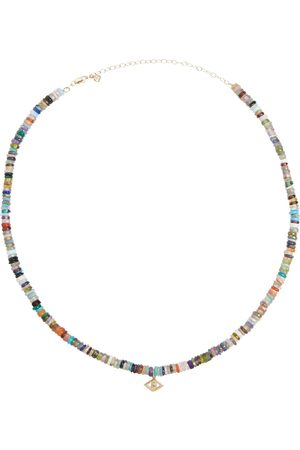 Sydney Evan Evil Eye 14kt gold beaded necklace