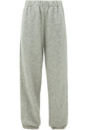 Raey Elasticated-waist Cashmere-blend Track Pants - Womens - Marl