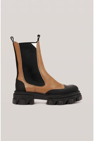 Ganni Women Chelsea Boots - Calf Leather Mid Chelsea Boot