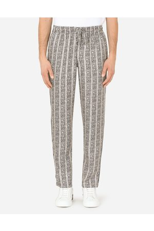 Dolce & Gabbana Men Trousers - Trousers and Shorts - FLORAL-PRINT SILK PAJAMA PANTS male 44
