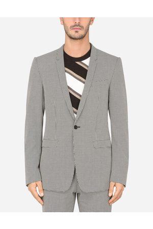 Dolce & Gabbana Collection - COTTON HOUNDSTOOTH GOLD-FIT JACKET male 44