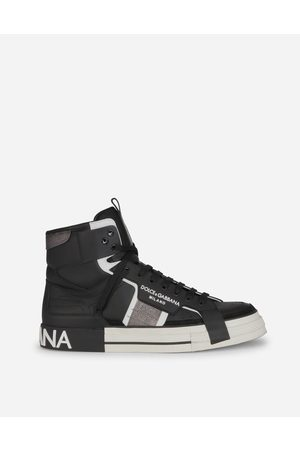 Dolce & Gabbana Men Trainers - Collection - CALFSKIN 2.ZERO CUSTOM HIGH-TOP SNEAKERS WITH CONTRASTING DETAILS male 40