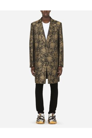 Dolce & Gabbana Coats and Blazers - FLORAL LAMÉ JACQUARD COAT male 48