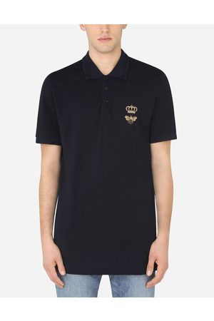 Dolce & Gabbana Collection - COTTON PIQUÉ POLO SHIRT WITH FRENCH WIRE PATCH male 42