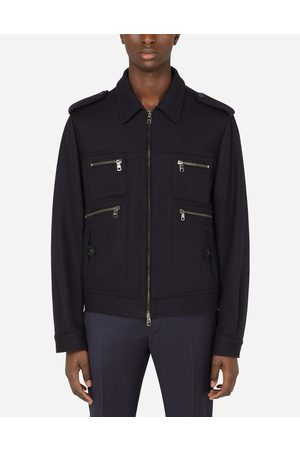 Dolce & Gabbana Jackets and Bombers - CASHMERE JACKET WITH LEATHER DETAILS male 44