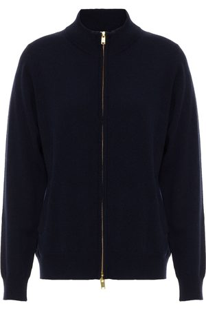 N.PEAL Women Cardigans - Woman Cashmere Cardigan Navy Size L