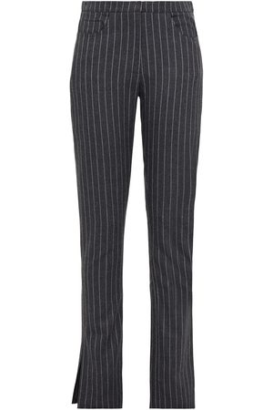 16Arlington Woman Wallis Pinstriped Woven Slim-leg Pants Anthracite Size 10