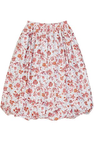 PATOU Floral Printed Poplin Puff Skirt