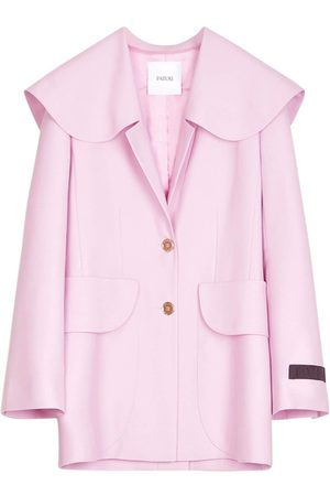 PATOU Eco Wool Serge Tailored Jacket W/ Belt