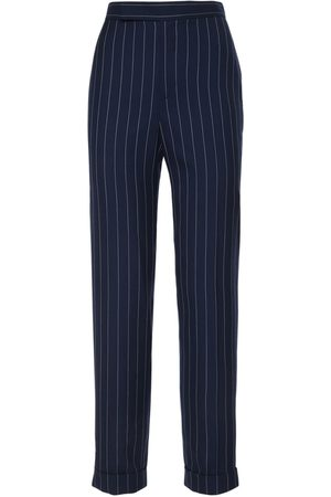 Ralph Lauren Women Formal Trousers - Wool Wide Stripe Suit Pants