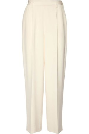 Ralph Lauren Heavy Silk Cady Straight Leg Pants