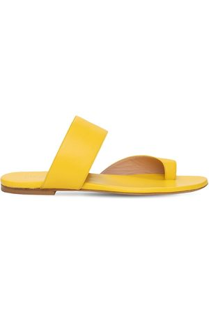 GIA 10mm Zefiro Leather Thong Sandals