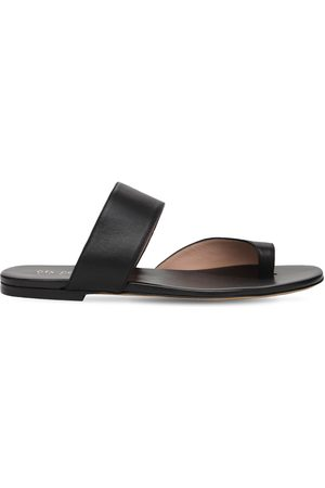 GIA Women Sandals - 10mm Zefiro Leather Thong Sandals