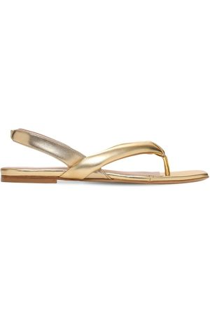 GIA 10mm Bora Metallic Leather Thong Sandals