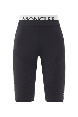 Moncler Logo-jacquard Jersey Cycling Shorts - Womens