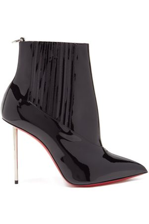 Christian Louboutin Women Ankle Boots - Epic 100 Patent-leather Ankle Boots - Womens
