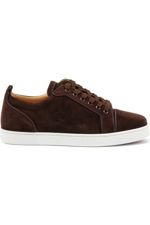 Christian Louboutin Louis Junior Orlato Suede Trainers - Mens - Dark