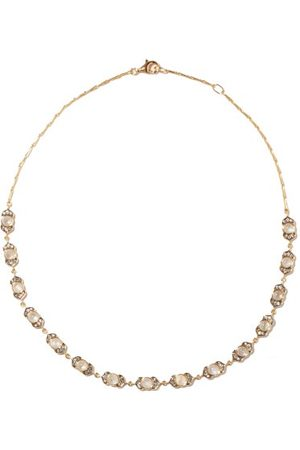 NOOR FARES Women Necklaces - Kamala Diamond, Moonstone & 18kt Necklace - Womens - Multi