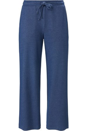 Green Cotton Women Trousers - Ankle-length trousers in Marlene style size: 12