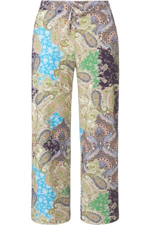 Green Cotton Women Trousers - Ankle-length trousers in 100% cotton size: 12