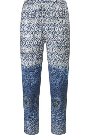 Green Cotton Women Trousers - 7/8-length trousers in 100% cotton size: 12