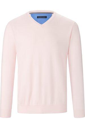 Louis Sayn Men Jumpers - V-neck jumper made of 100% Pima cotton pale size: 38