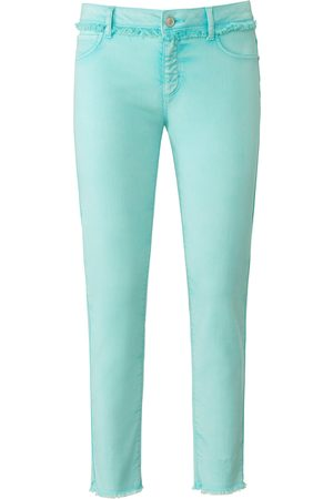 DAY.LIKE Women Slim - Ankle length slim fit jeans turquoise size: 10s