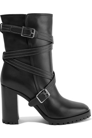 Gianvito Rossi Woman 90 Buckled Leather Ankle Boots Size 37