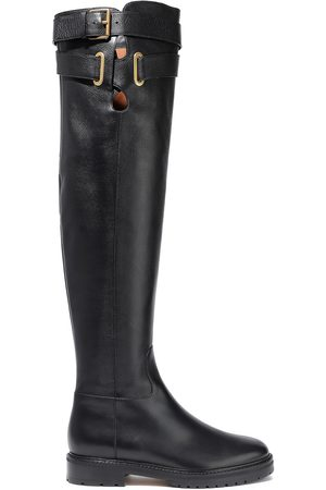VALENTINO GARAVANI Woman Buckled Leather Over-the-knee Boots Size 39