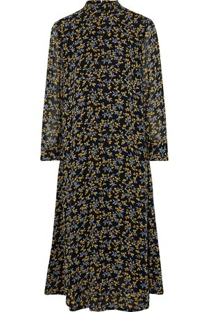 Ganni Woman The Fran Floral-print Georgette Midi Dress Size 32