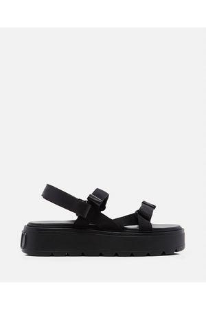 VALENTINO Ribbon and leather Uniqueform Garavani sandal size 40½
