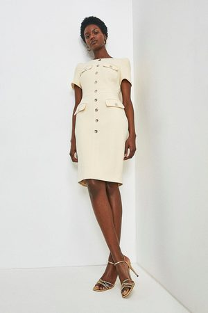 Karen Millen UK & IE Karen Millen Utility Dress -, Cream