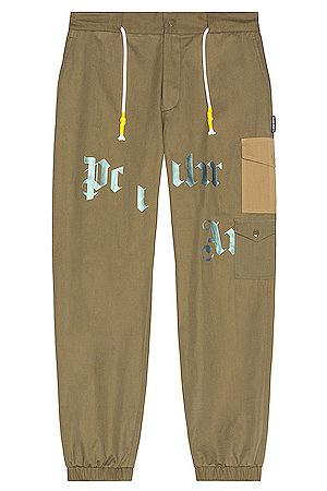 Palm Angels Military Cargo Pant in Military
