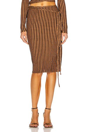 Y / PROJECT Wrap Rib Skirt in & Rust