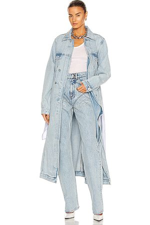 Y / PROJECT Pulled Lining Denim Coat in Ice