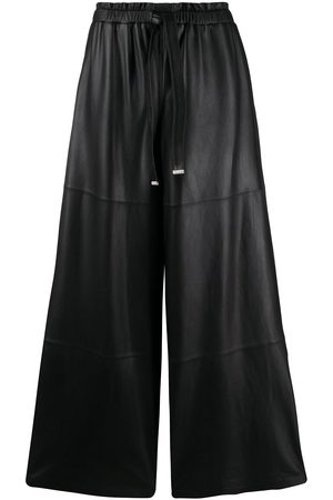 DESA 1972 Tied waist leather palazzo trousers
