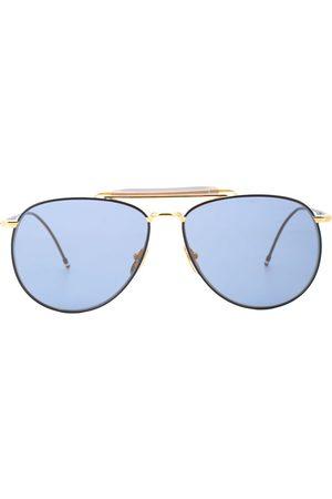 Thom Browne Sunglasses - Double-bridge aviator sunglasses