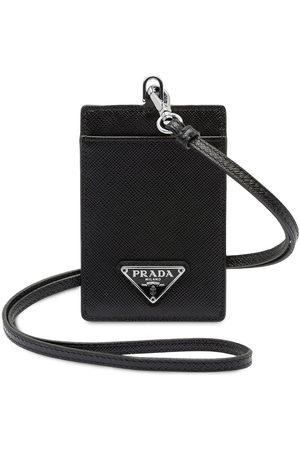 Prada Saffiano leather badge holder