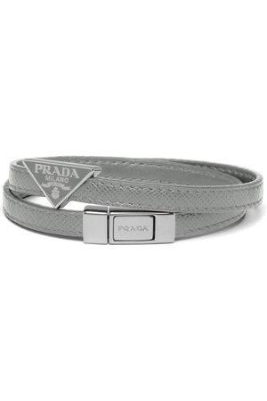 Prada Double strap triangular logo bracelet