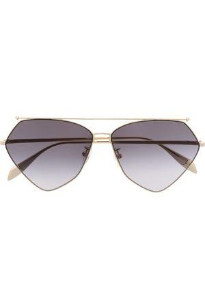 Alexander McQueen Eyewear Angular aviator-frame sunglasses