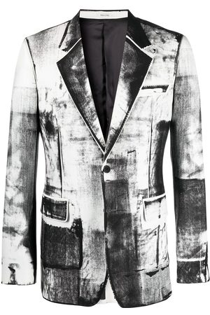 Alexander McQueen Trompe-l'oeil single-breasted blazer