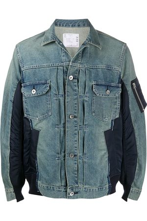 SACAI Panelled denim jacket