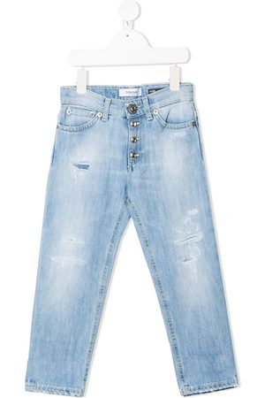 Dondup Girls Straight - Distressed straight-leg jeans