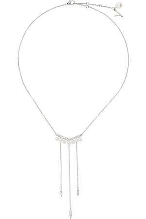 Yoko London Women Necklaces - 18kt white gold Trend freshwater pearl and diamond necklace - 7