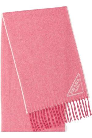 Prada Scarves - Intarsia-logo scarf