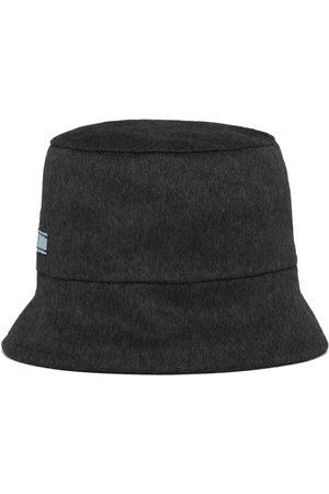 Prada Reversible logo-patch bucket hat