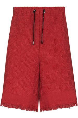 Marine Serre Moon Salutation jacquard shorts - 02 02 AND