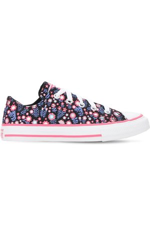 Converse Girls Trainers - Flower Print Chuck Taylor Sneakers